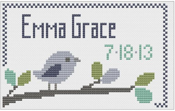 Customized Cross Stitch for Baby  Pattern  by piecesofcandycrafts, $3.00