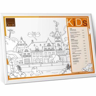 Illustratie landgoed tbv kinderkleurplaat - tevens placemat.