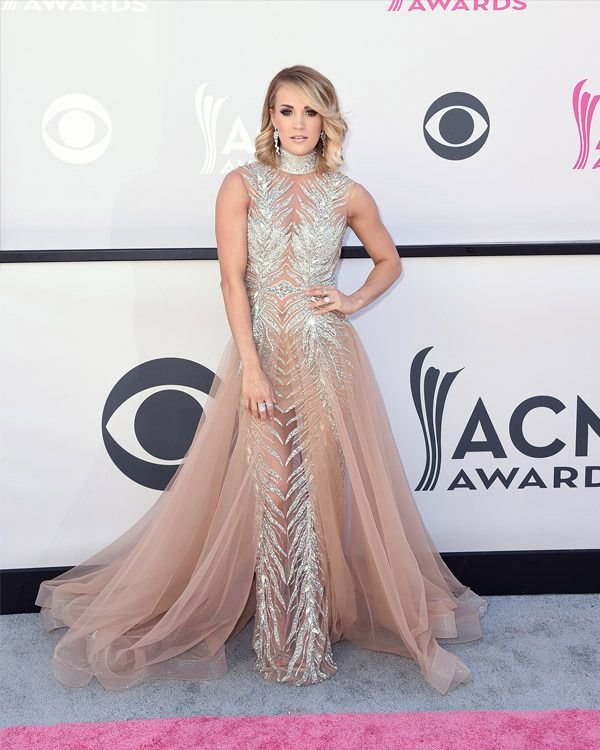 Carrie Underwood in Labourjoisie, attends the Academy Of Country Music Awards on April 2, 2017