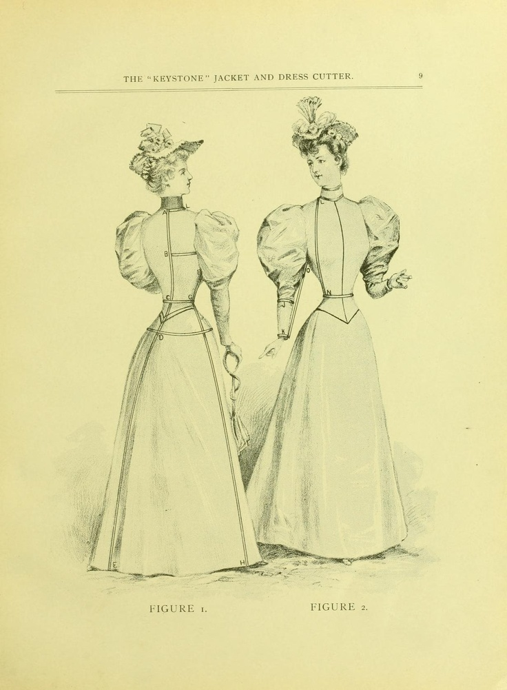 """1895 The """"Keystone"""" jacket and dress cutter. wonderful patterns.  ladies jackets, shirt waists, skirts, riding habit, trousers and breeches. Includes a three quarter's circle cape and a half circle cape pattern with shoulder shaping. (instructions for the patterns are not too hard to follow one you get the hang of it, but they expect you to use a tailors square, you have to do a lot of math if you don't have one.  also some horizontal measurements need to be cut in half)"""
