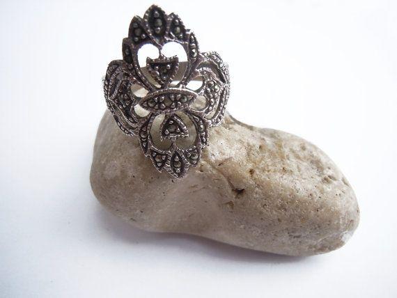 Anello vintage argento