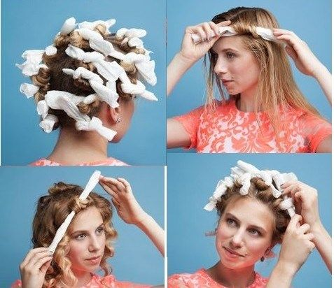Curling your hair using paper towels! So need to try this!!!