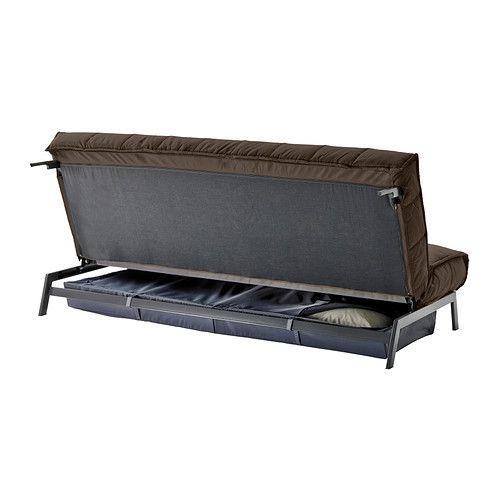KARLABY / KARLSKOGA Canapea extensibilă 3locuri - Sivik maro - IKEA