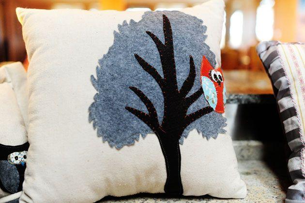 Tree Owl Pillow