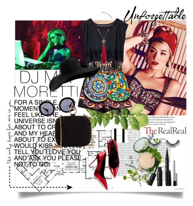 Jet Set Style With DJ Mia Moretti & The RealReal: Contest Entry_2 by ramona-ice on Polyvore featuring Dolce&Gabbana, Chanel, Miu Miu, Origins, Sephora Collection, TheRealReal and miamoretti