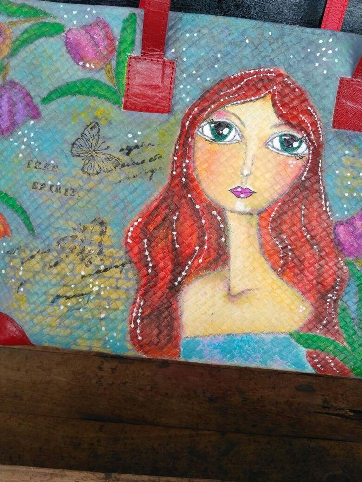 Red heart. Mahitala whimsical painting