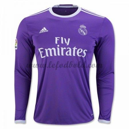 Billige Fodboldtrøjer Real Madrid 2016-17 Langærmet Udebanetrøje