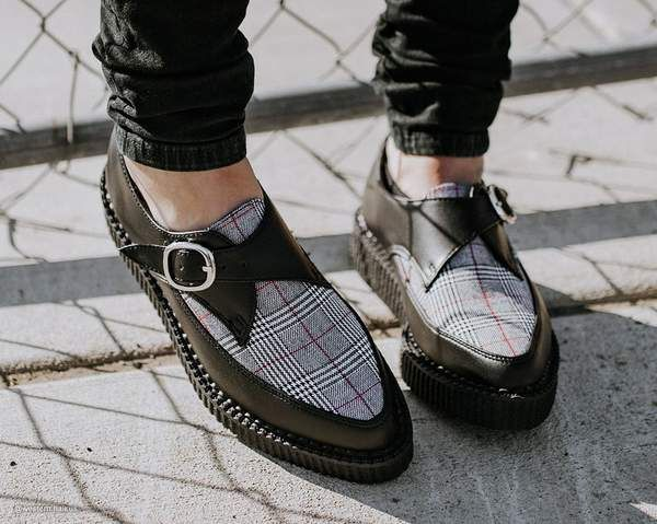 Plaid Pointed Buckle Creeper