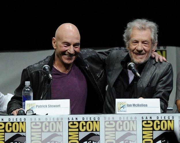 Sir Patrick Stewart and Sir Ian McKellen's friendship is the best friendship in the world.