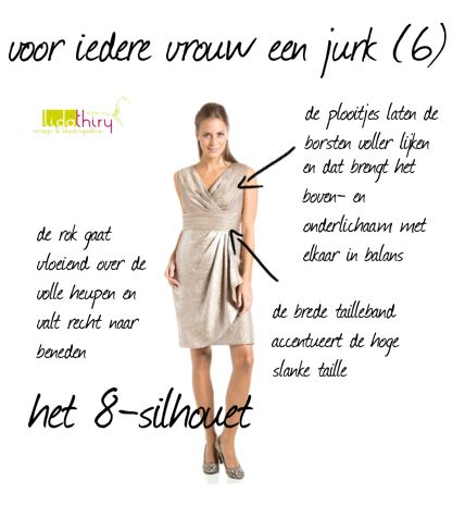 een jurk voor het 8-silhouet