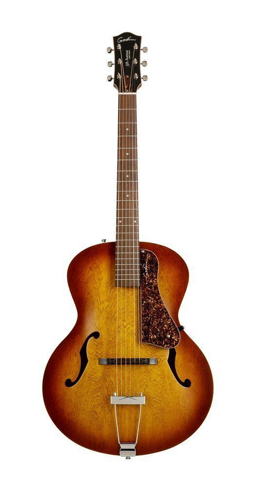 beautiful acoustic guitars godin 5th avenue archtop jazz