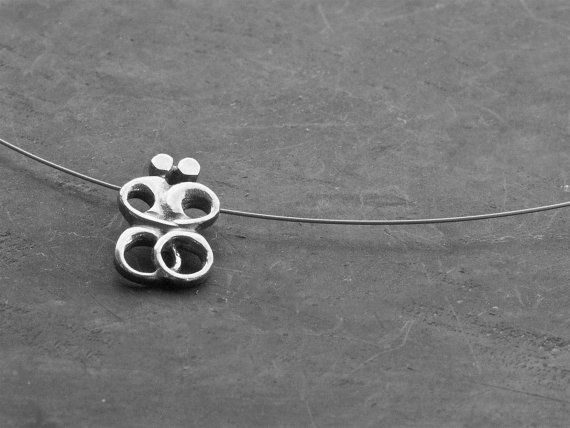 Unisex Greek Necklace Sterling Silver Abstract by GreekMythos