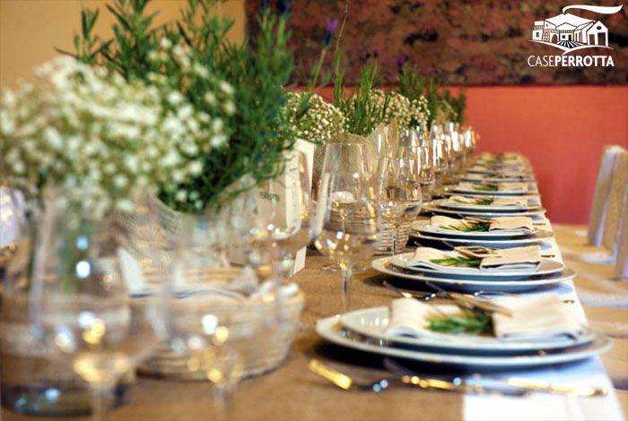 Allestimento per ricevimento nozze sala Cantina