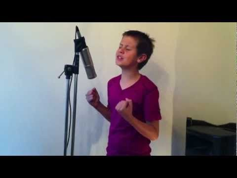 Jared Cardona 12 year old boy singing Edge of Glory ( Lady Gaga.)