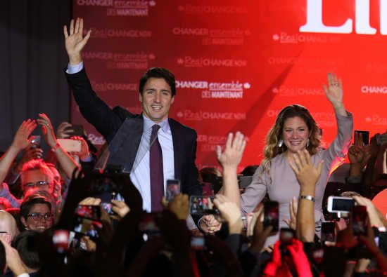 Canada's Liberal Party ends 10 years of Conservative rule in a landslide. Canada's incoming Liberal prime minister, Justin ...