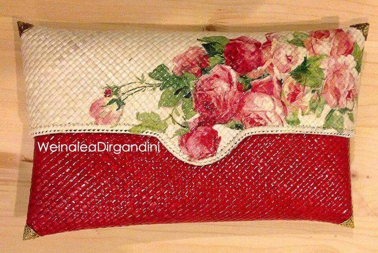 Lovely decoupage clutch by Weinalea Dirgandini