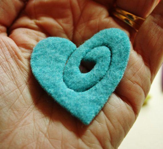 Kit broche de corazón... 48 de cremallera de por woollyfabulous