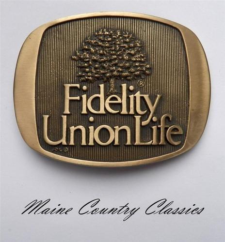 Vintage Fidelity Union Life Insurance Belt Buckle Norman Company Dallas Texas | eBay