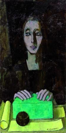 Felice Casorati - La scatola verde 1951 ca