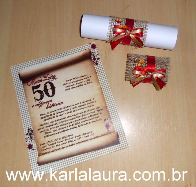 Karla Laura Convites, Lembranças e Papelaria Personalizada: Convite de aniversário rústico - Maria Luíza