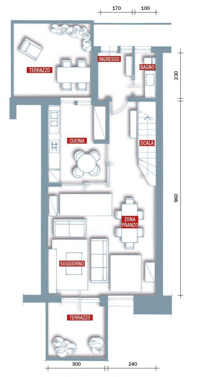 Una Casa Rinnovata Nel Look Con Luce Moltiplicata Planimetrie Di Case Case Progetto Di Appartamento