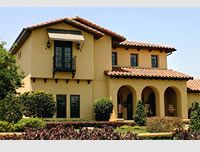 spanish style home yellow house spanish style homes house colors. Black Bedroom Furniture Sets. Home Design Ideas