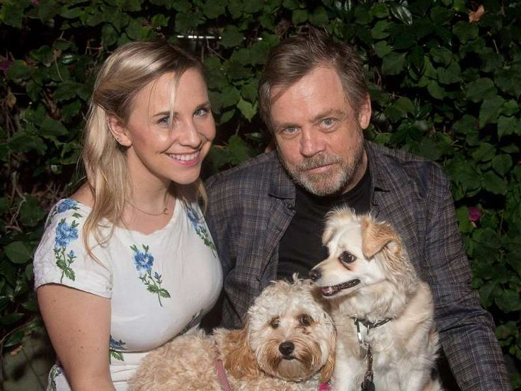 Mark Hamill and daughter Chelsea find puppy love with two adorable furry friends on Wednesday at an ... - Gabriel Olsen/Getty