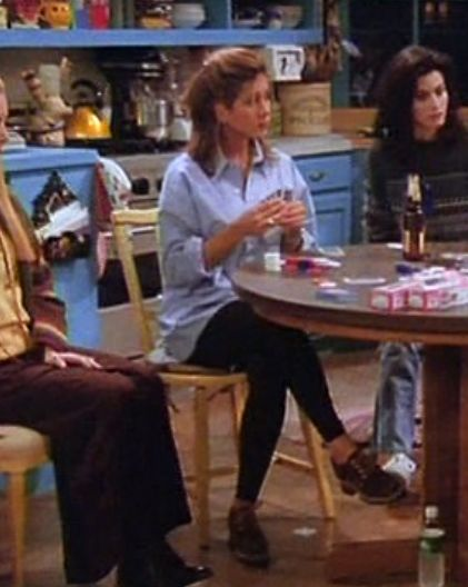 Rachel Green: style queen.                                                                                                                                                      More
