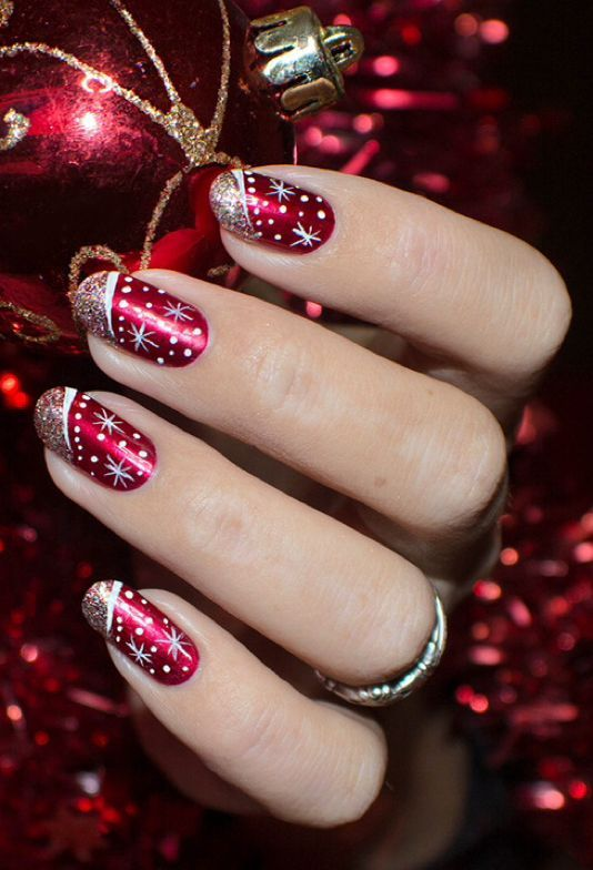 Weihnachtsnägel von Lizananails.com #nails #christmasnails #nailart