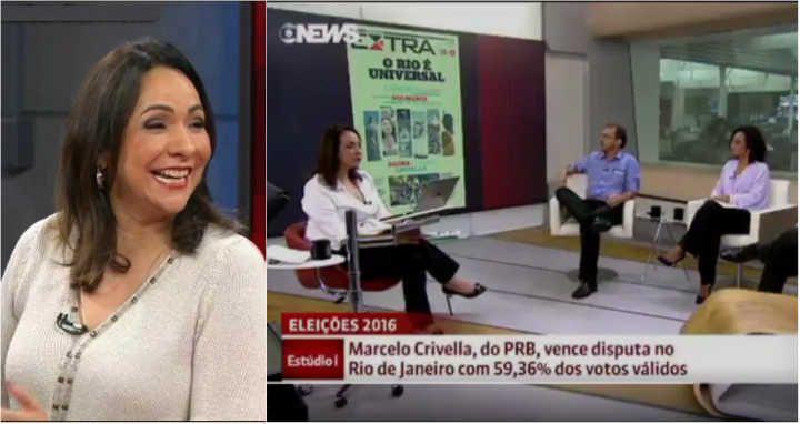 Jornalista da Globo News cai em pegadinha ao vivo e paga mico