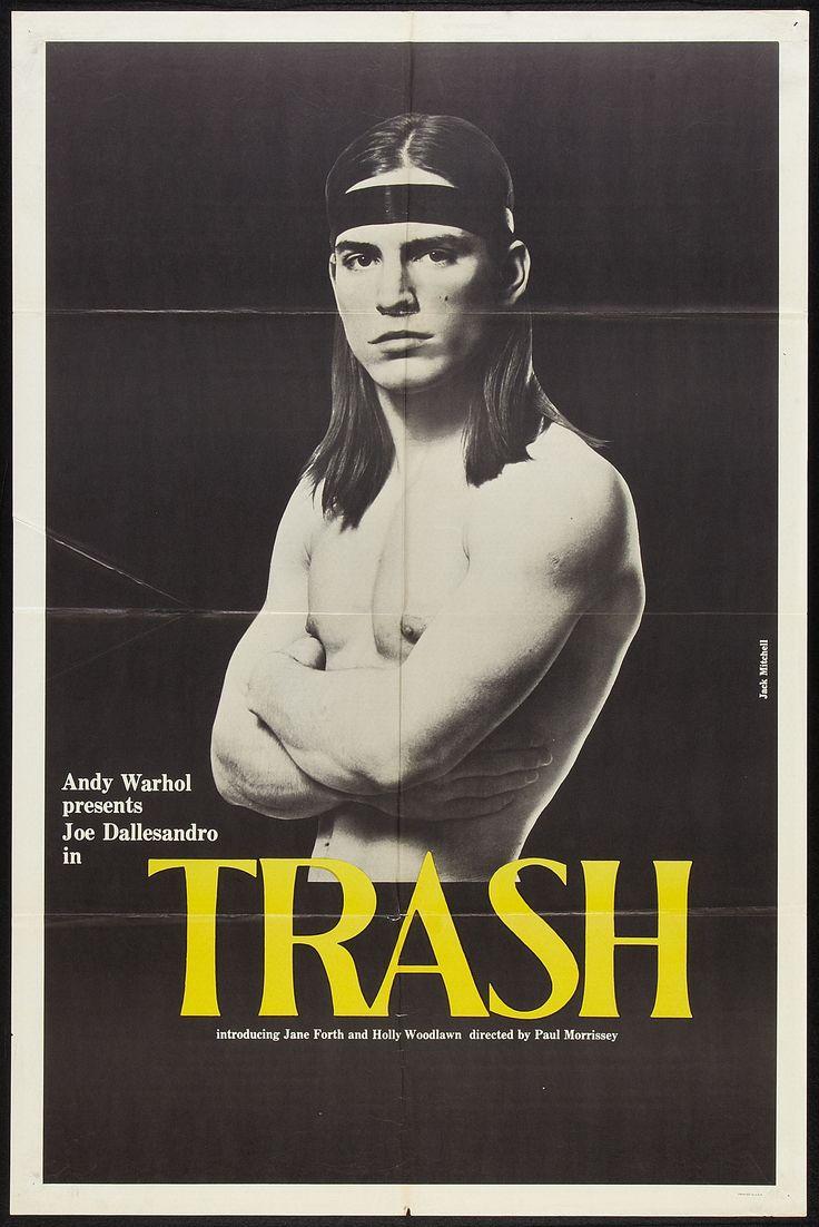 "Trash (Cinema 5, 1970). One Sheet (27"" X 41""). Drama. Starring Joe Dallesandro, Holly Woodlawn, Geri Miller, and Andrea Feldman. Directed by Paul Morrissey"