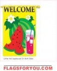 Watermelon welcome applique Garden Flag  - 2 left