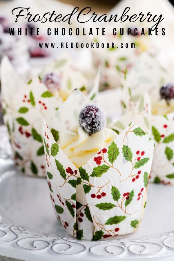 Jun 24, 2020 – These Frosted Cranberry White Chocolate Cupcakes are made with melted white chocolate in the cupcake batt…