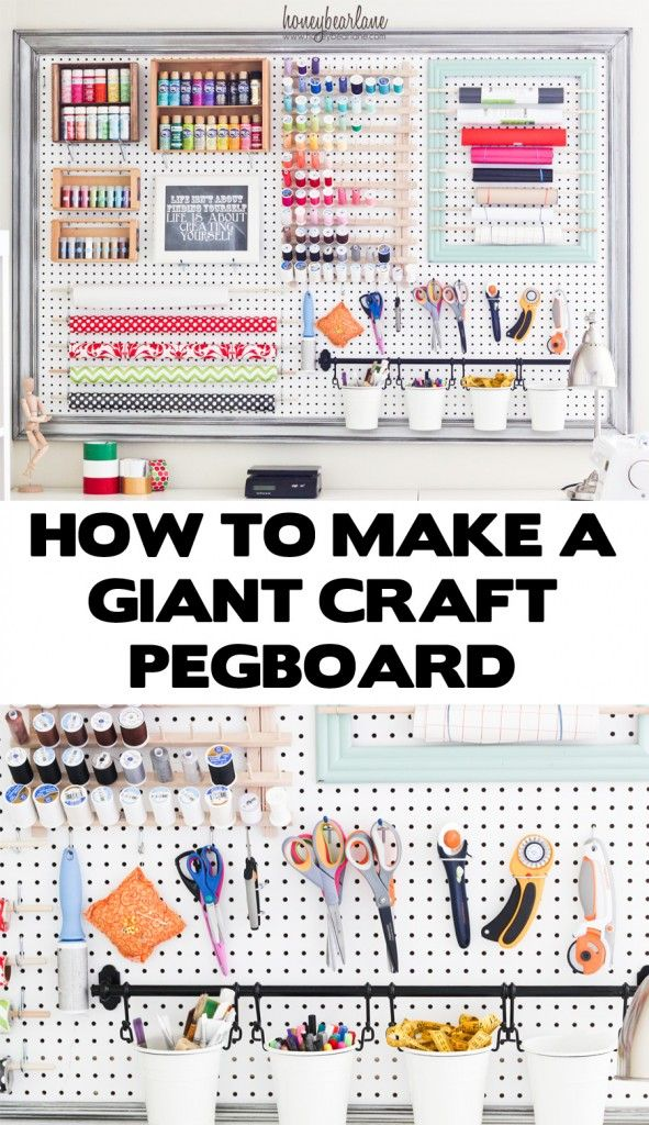 Oh my gosh, I need this in my craft room! Craft Room Organization!!