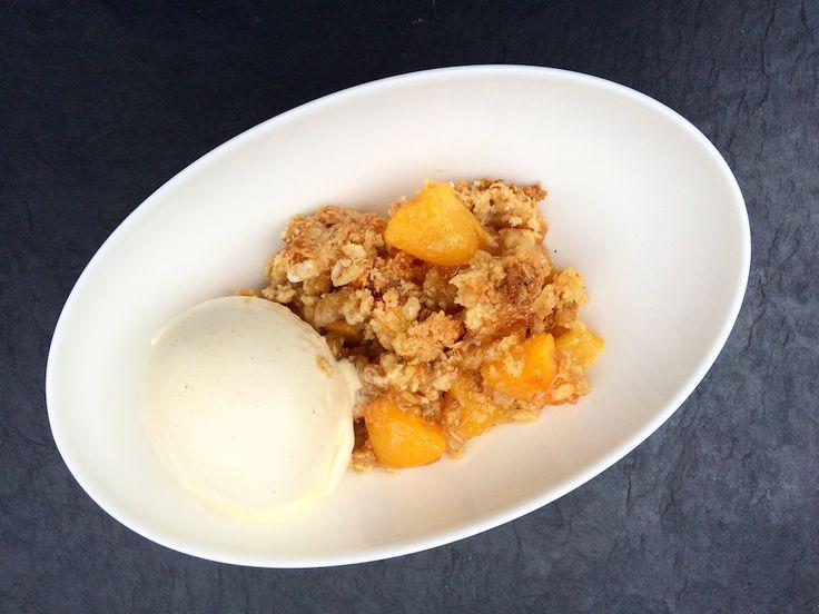 Fruit crumble – Peach