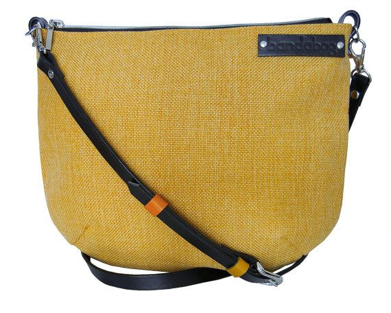 Crossbody bag with genuine leather adjustable strap by bandabag