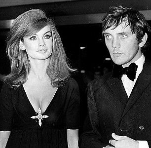 The beautiful people: Britain's top model Jean Shrimpton with lover and actor Terence Stamp Cannes