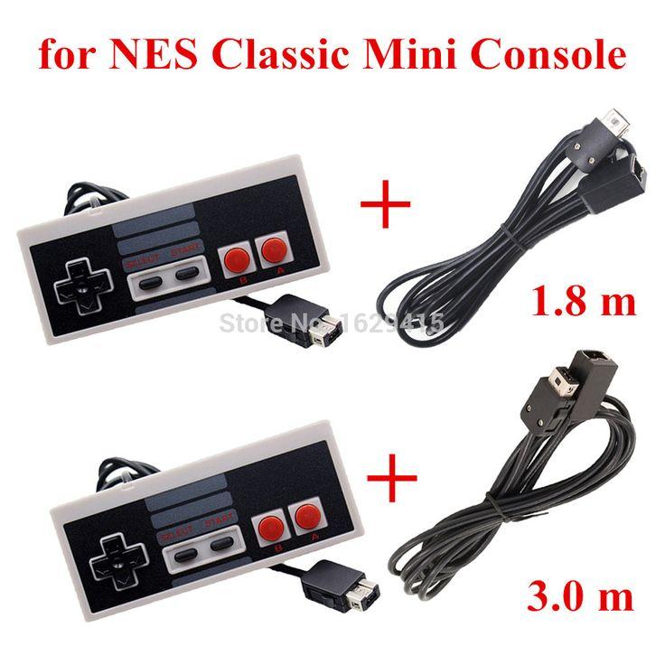 IVYUEEN Untuk Sistem Hiburan Konsol NES Klasik Mini Controller Gamepad dengan 1.8 m/3.0 m 10FT Perpanjangan Kabel Kabel