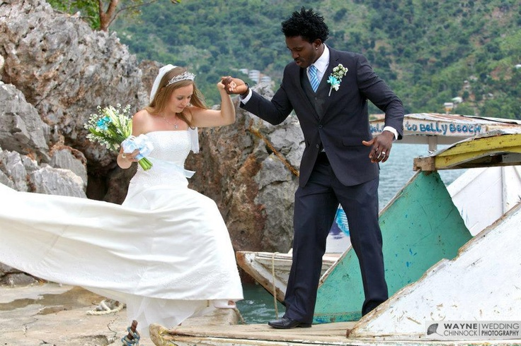Wedding in belly beach near labadee haiti credit wayne for Where to go for a honeymoon