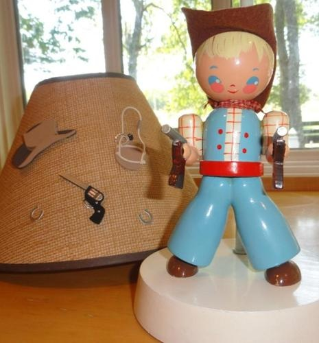 Vintage Cowboy Novelty Lamp for Baby or child's Room