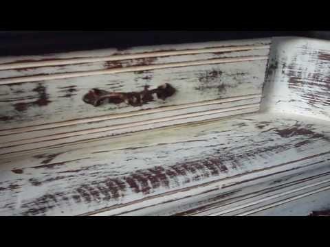 como hacer un mueble vintage, decapar madera, decapado, con poco presupuesto - YouTube