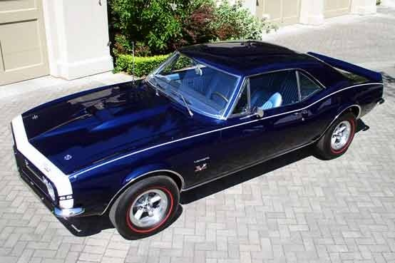 Cobalt Blue 1967 Yenko Chevy Camaro SS. | Camaros ...