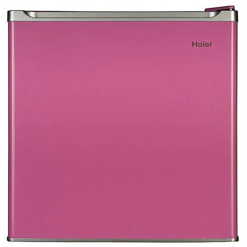 Haier dorm refrigerator/freezer, pink