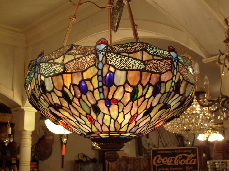 stained glass light fixture at http://www.bornagainantiques.com/index.html
