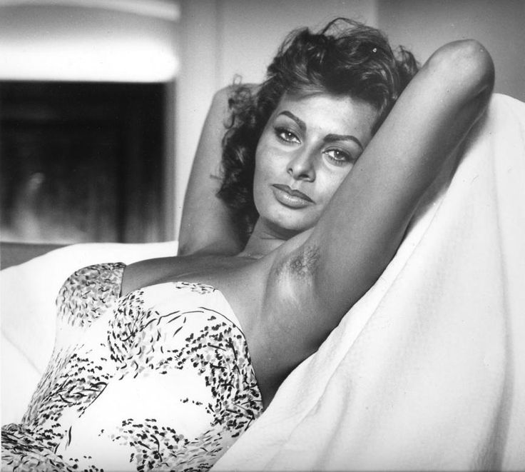 Sophia Loren poses for Pirelli calendar. Date not certain but possibly mid-1960's