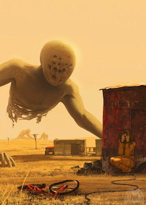 Fantasia, ficção, surrealismo e terror nas ilustrações de Alex Andreyev