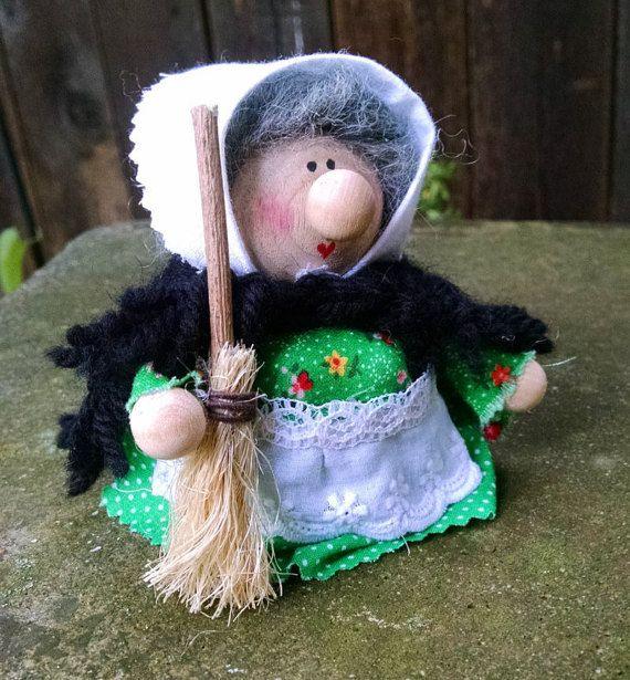Kitchen Witch Strega Nona La Befana Christmas Witch by Tomtenology