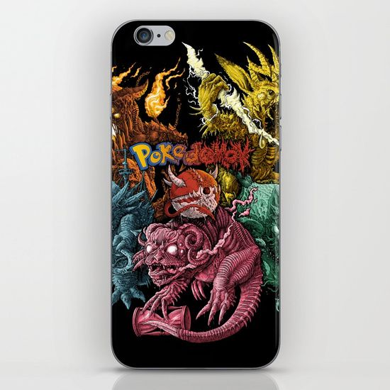 Society6 iphone case, pokedemon, pokemon, creepy monsters, sweet, tattoo style, nice, cute puppies, geek, freak, death metal, black metal, colorful, comic, joy, lol