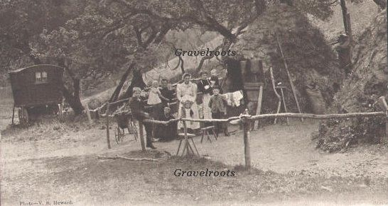 Sussex  Charcoal burners  Arundel Park  c1900-1903  Postcard dated 1903, [3 archived]  donator- Trevor Holden. Original photograph by JS Heward