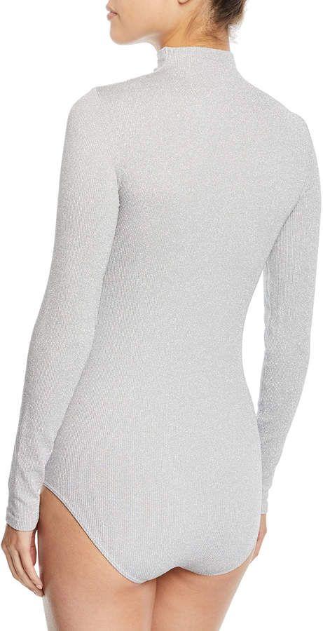 1cf833dae3 Wolford Joan Turtleneck Metallic Bodysuit  Joan Wolford Turtleneck ...